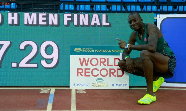 Grant Holloway smashes 60m hurdles record in Madrid